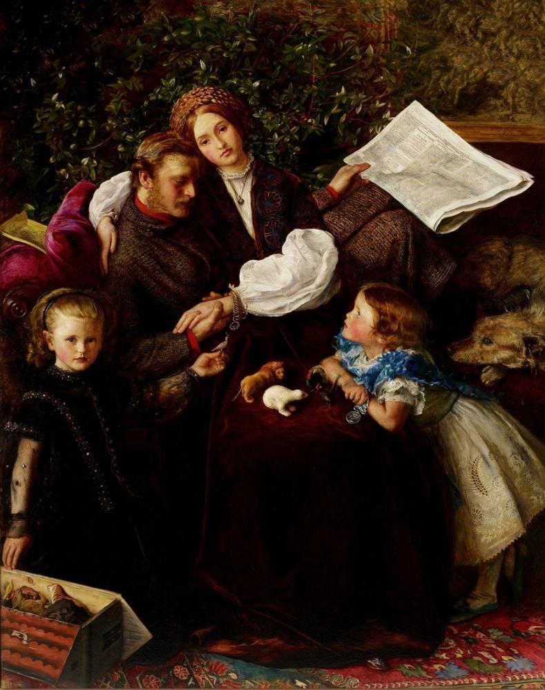 John Everett Millais Peace Concluded, Canvas, John Everett Millais, kanvas tablo, canvas print sales