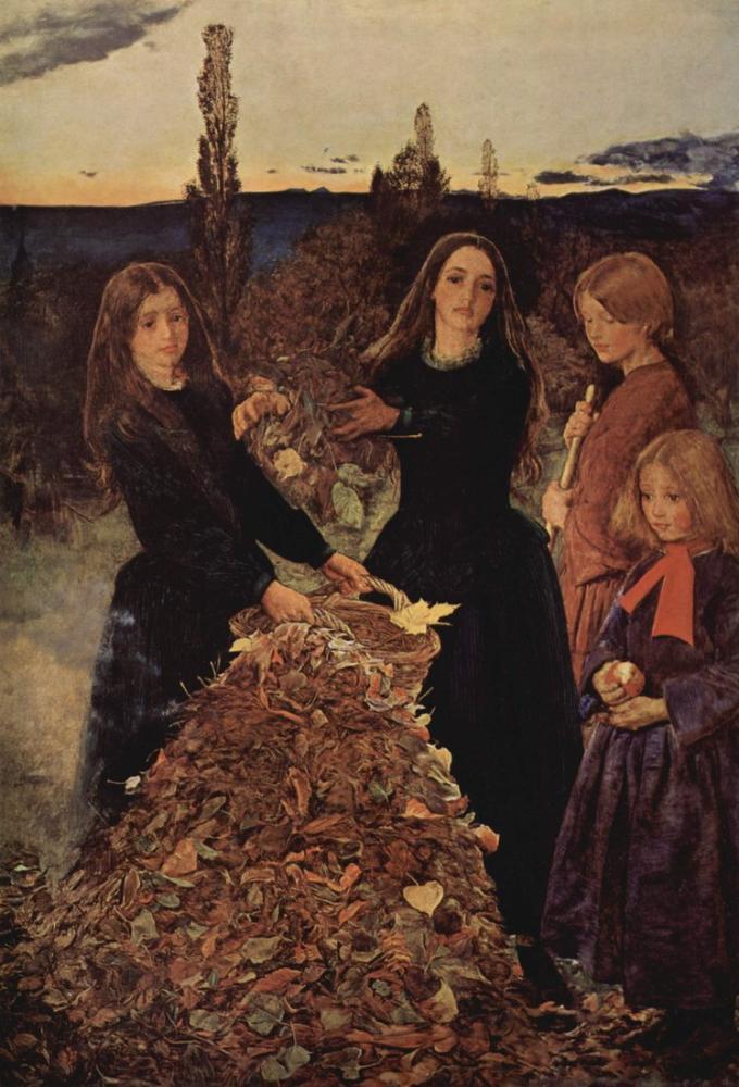 John Everett Millais Sonbahar Yaprakları, Kanvas Tablo, John Everett Millais, kanvas tablo, canvas print sales