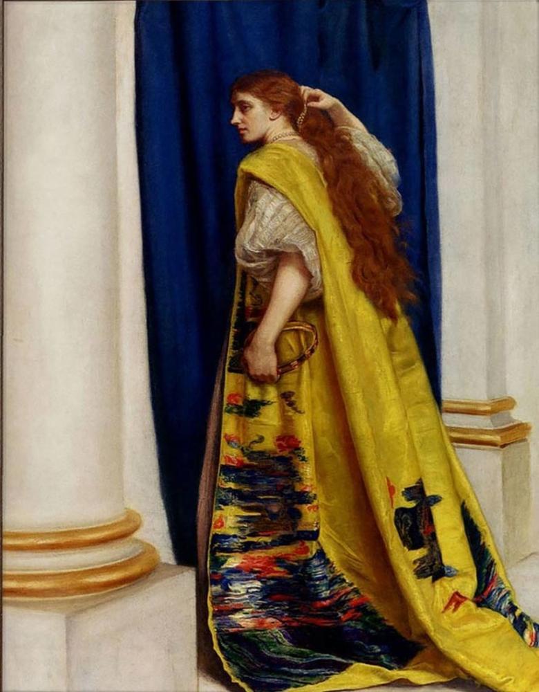 John Everett Millais Esther, Canvas, John Everett Millais, kanvas tablo, canvas print sales