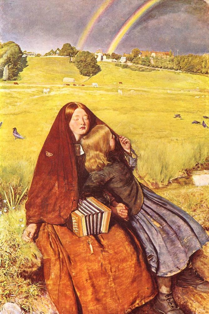 John Everett Millais Blind Girl, Canvas, John Everett Millais, kanvas tablo, canvas print sales