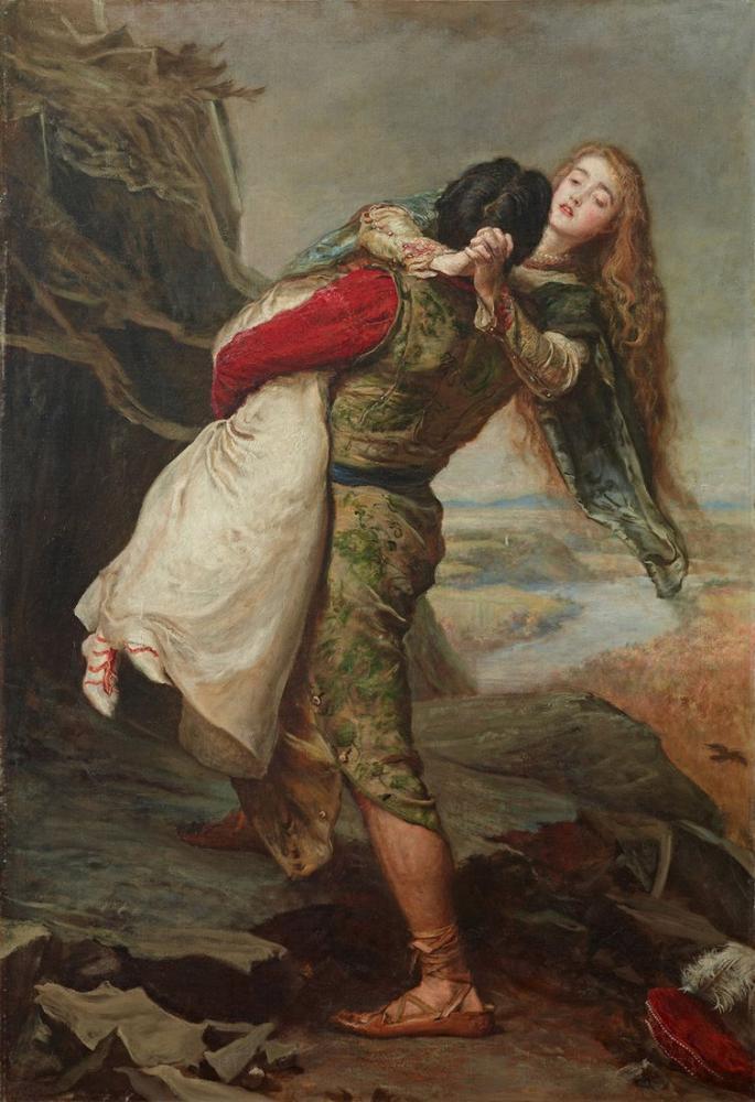 John Everett Millais The Crown Of Love, Canvas, John Everett Millais, kanvas tablo, canvas print sales