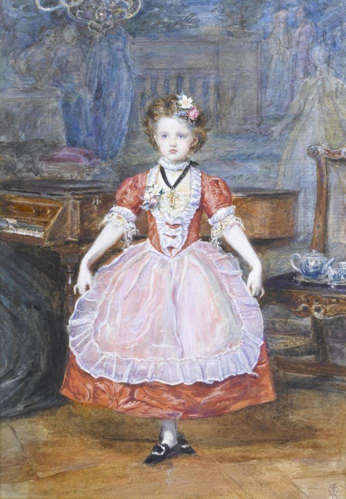 John Everett Millais The Minuet, Canvas, John Everett Millais, kanvas tablo, canvas print sales