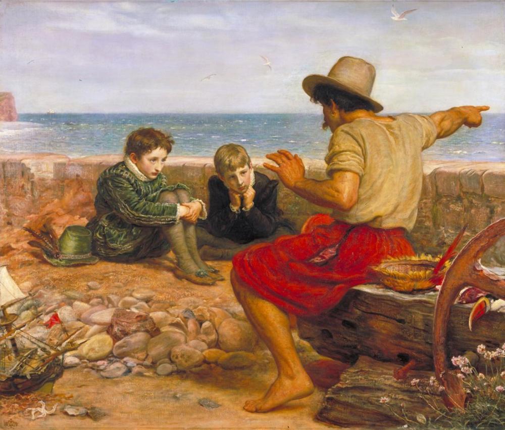John Everett Millais The Boyhood Of Raleigh, Canvas, John Everett Millais, kanvas tablo, canvas print sales