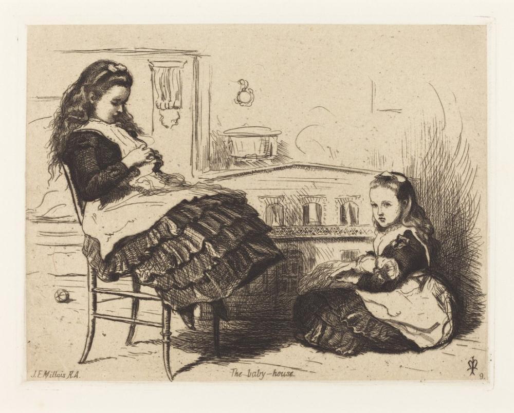 John Everett Millais Bebek Evi, Kanvas Tablo, John Everett Millais, kanvas tablo, canvas print sales