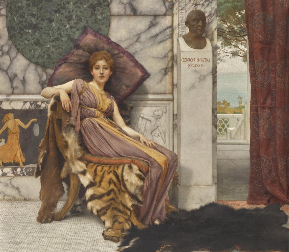 John William Godward Sweet Idleness, Canvas, John William Godward, kanvas tablo, canvas print sales