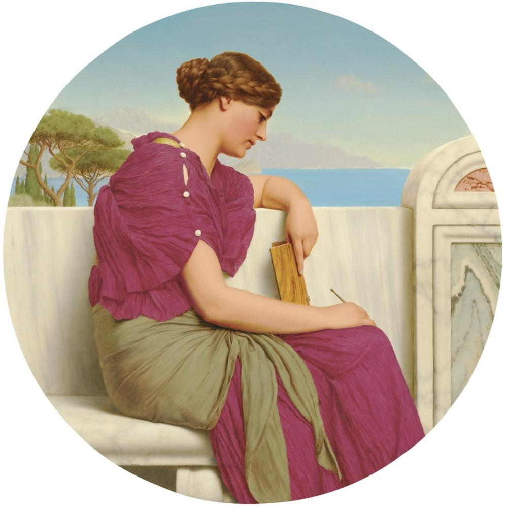 John William Godward The Answer, Canvas, John William Godward, kanvas tablo, canvas print sales