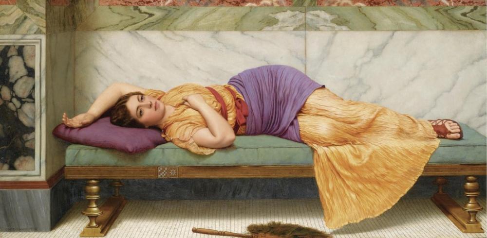 John William Godward Gündüz Rüyası, Kanvas Tablo, John William Godward, kanvas tablo, canvas print sales