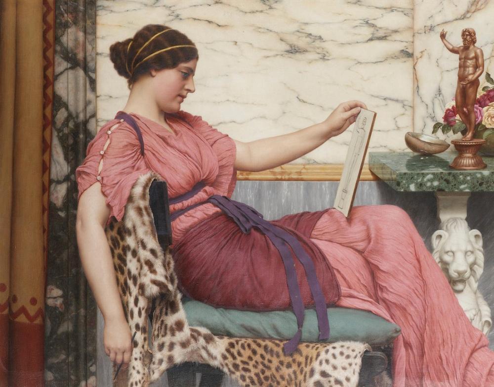 John William Godward Bir Amatör, Kanvas Tablo, John William Godward, kanvas tablo, canvas print sales
