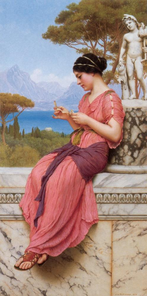 John William Godward The Love Letter, Canvas, John William Godward, kanvas tablo, canvas print sales