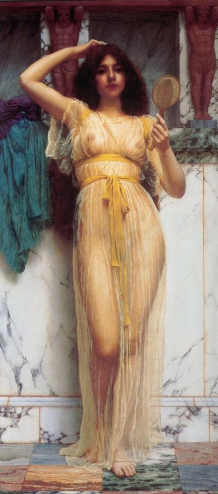 John William Godward Ayna, Kanvas Tablo, John William Godward, kanvas tablo, canvas print sales