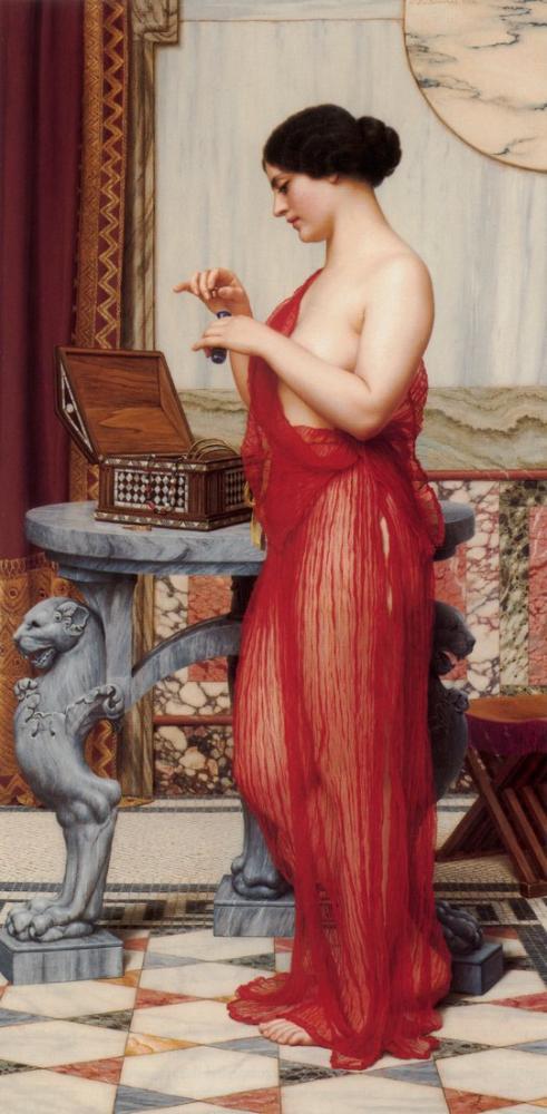 John William Godward Yeni Parfüm, Kanvas Tablo, John William Godward, kanvas tablo, canvas print sales