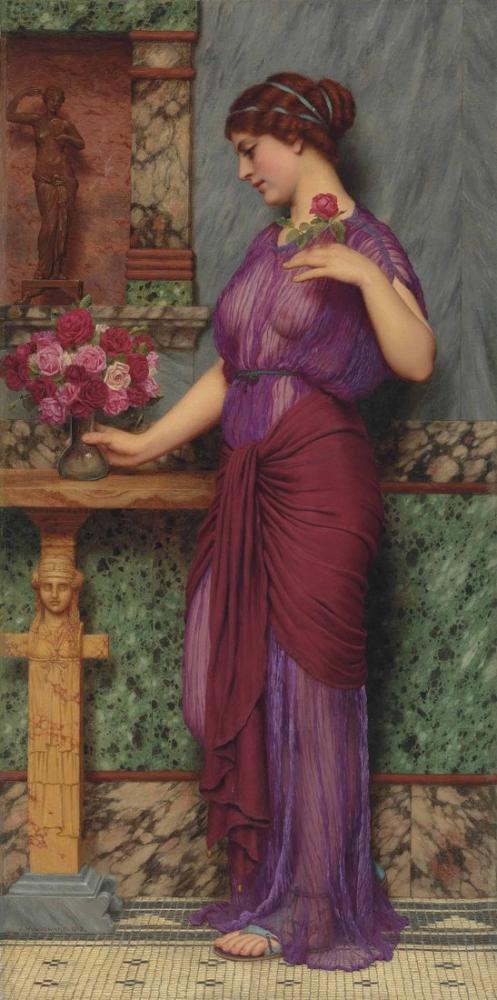 John William Godward Venüs e Bir Teklif, Kanvas Tablo, John William Godward, kanvas tablo, canvas print sales