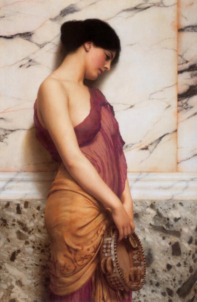 John William Godward Tef Kızı, Kanvas Tablo, John William Godward, kanvas tablo, canvas print sales