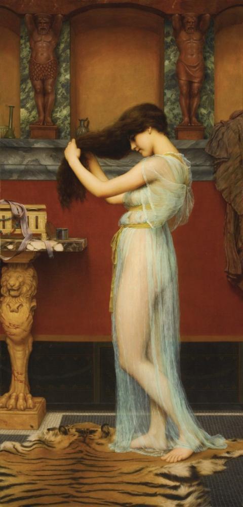 John William Godward The Toilet, Canvas, John William Godward, kanvas tablo, canvas print sales