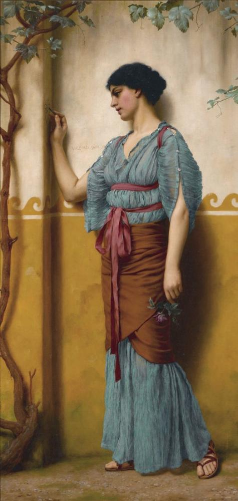 John William Godward The Trysting Place, Canvas, John William Godward, kanvas tablo, canvas print sales