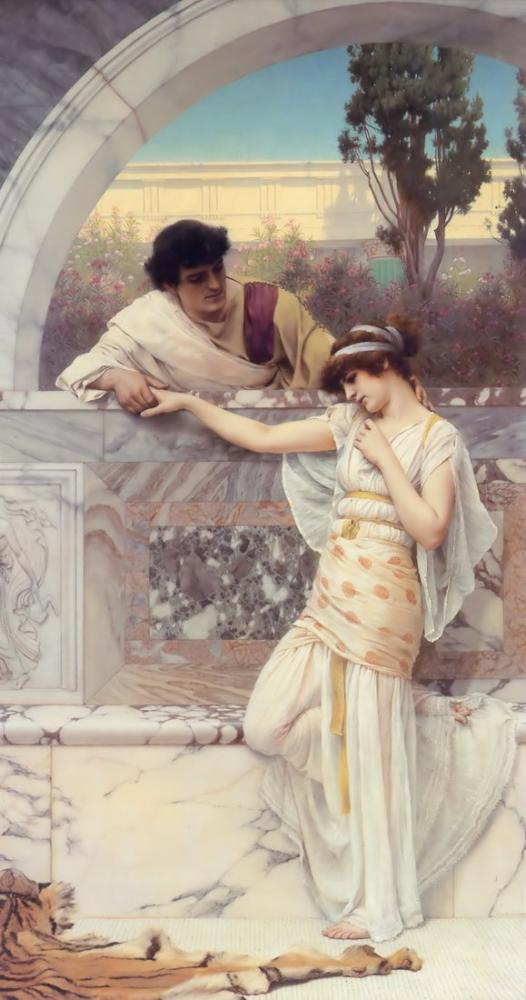 John William Godward Evet Veya Hayır, Kanvas Tablo, John William Godward, kanvas tablo, canvas print sales