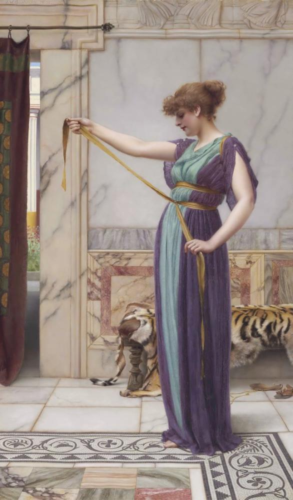 John William Godward A Pompeian Lady III, Canvas, John William Godward, kanvas tablo, canvas print sales
