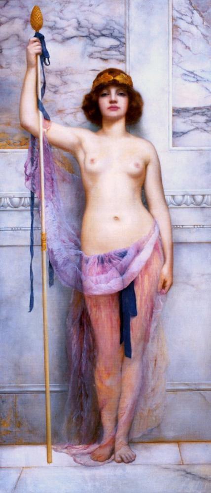 John William Godward Bir Rahibe, Kanvas Tablo, John William Godward, kanvas tablo, canvas print sales