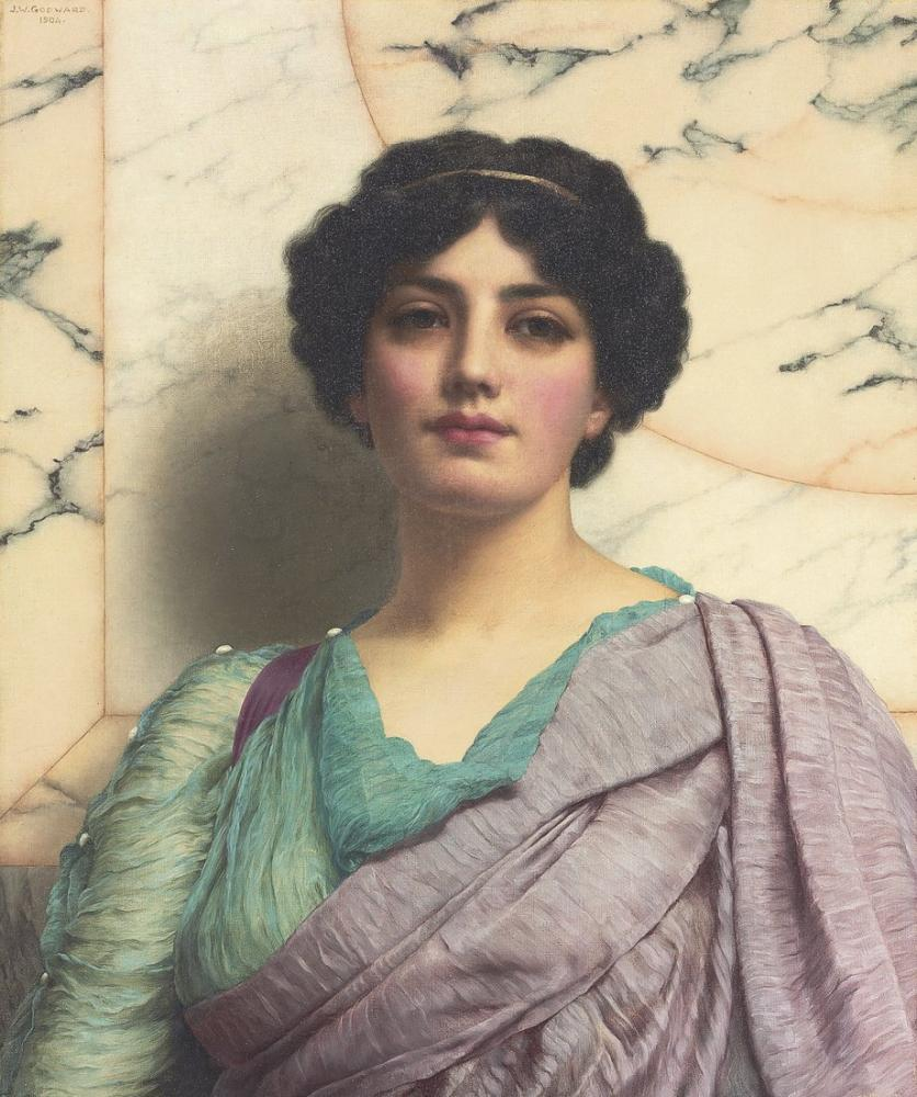 John William Godward A Roman Beauty, Canvas, John William Godward, kanvas tablo, canvas print sales