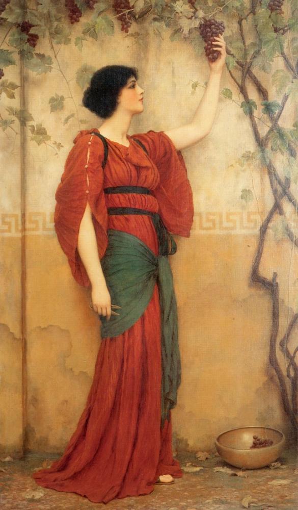 John William Godward Autumn, Canvas, John William Godward, kanvas tablo, canvas print sales