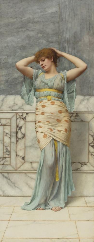 John William Godward Mermer Odadaki Güzellik, Kanvas Tablo, John William Godward, kanvas tablo, canvas print sales