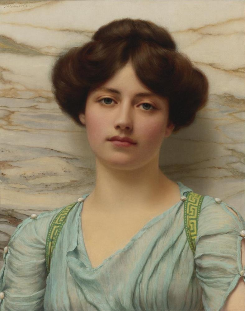 John William Godward Carina, Kanvas Tablo, John William Godward, kanvas tablo, canvas print sales