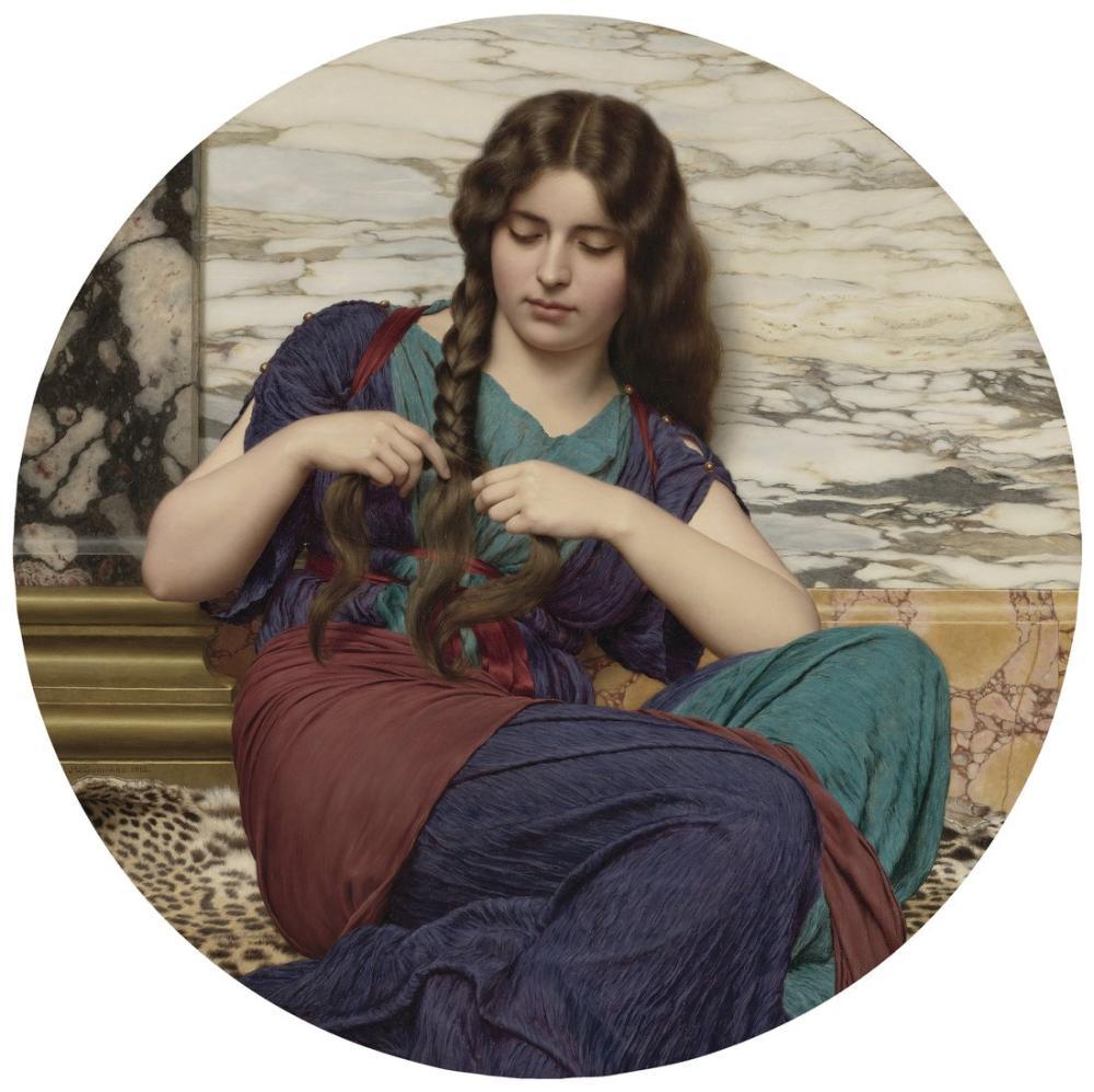 John William Godward Doğuştan Bir Görev, Kanvas Tablo, John William Godward, kanvas tablo, canvas print sales