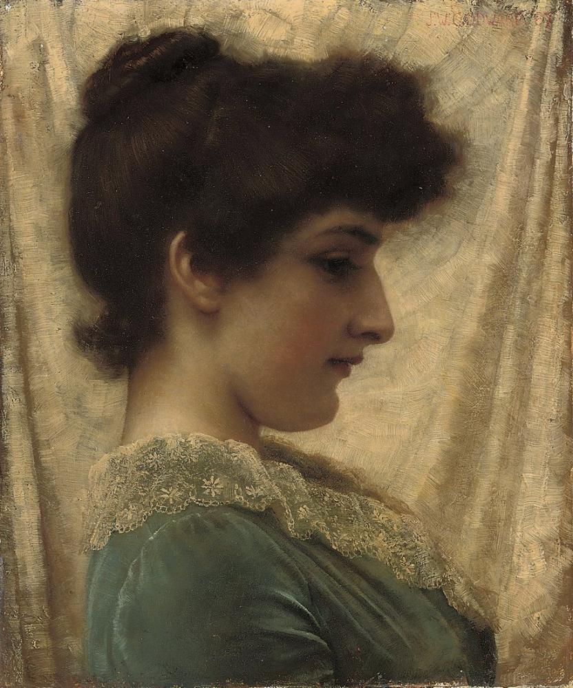 John William Godward Dora, Kanvas Tablo, John William Godward, kanvas tablo, canvas print sales