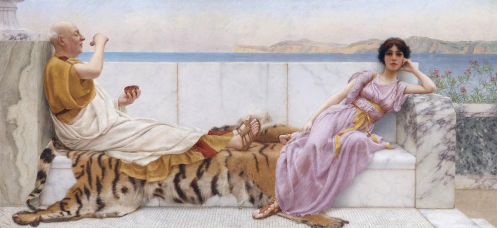 John William Godward Eighty And Eighteen, Canvas, John William Godward, kanvas tablo, canvas print sales