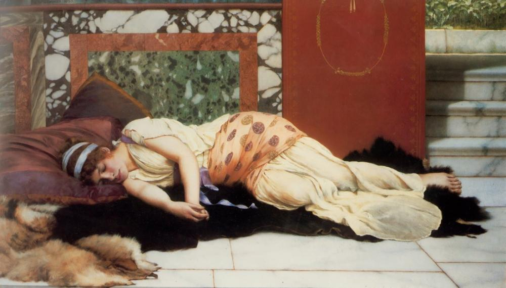 John William Godward Endymion, Kanvas Tablo, John William Godward, kanvas tablo, canvas print sales