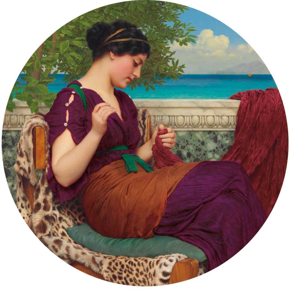 John William Godward Uzakta Düşünceler, Kanvas Tablo, John William Godward, kanvas tablo, canvas print sales