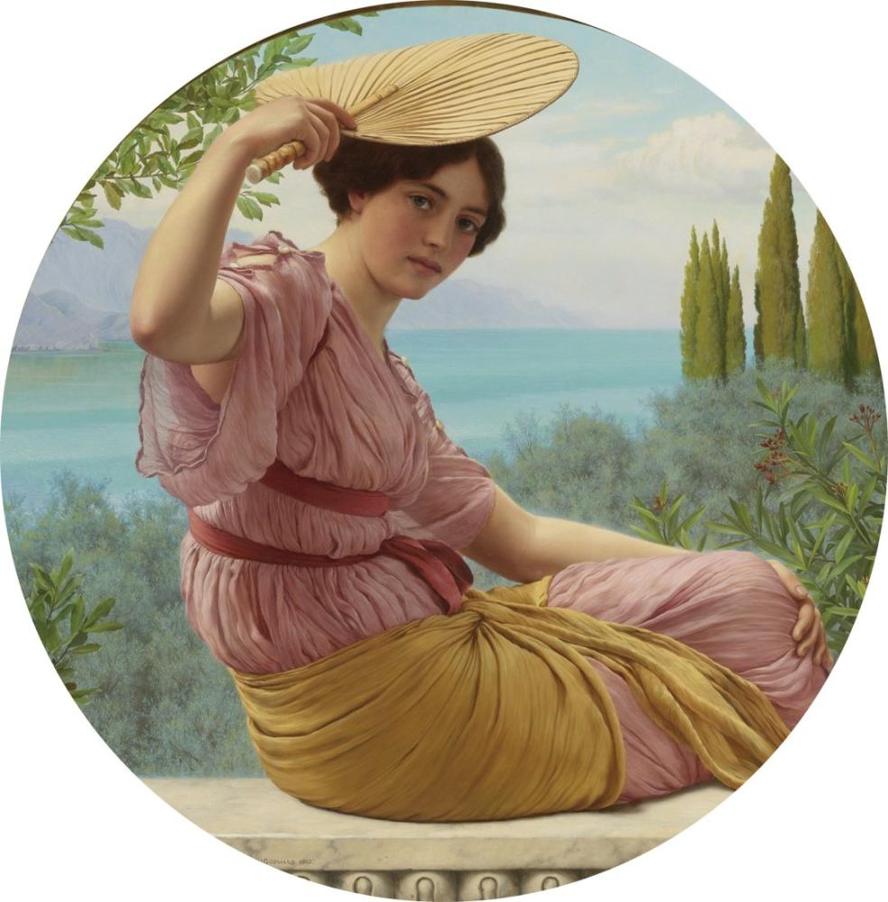 John William Godward Golden Hours, Canvas, John William Godward, kanvas tablo, canvas print sales