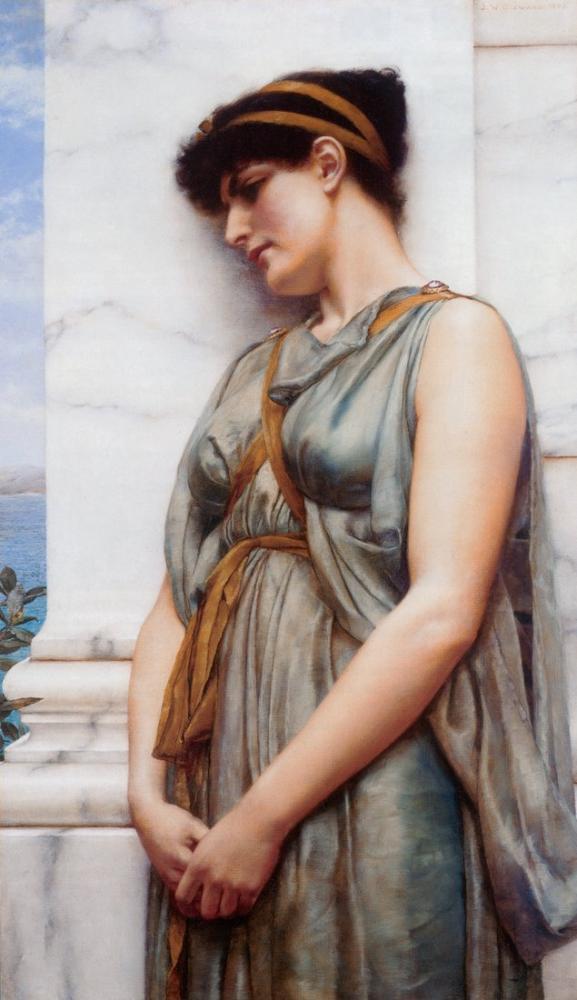 John William Godward Yunan Hayal, Kanvas Tablo, John William Godward, kanvas tablo, canvas print sales