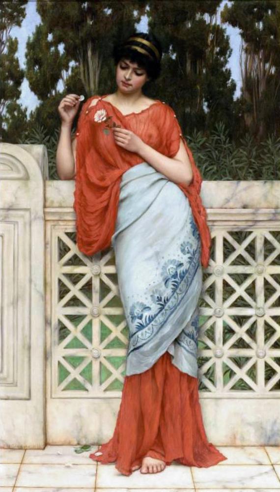John William Godward Beni Seviyor Beni Sevmiyor 1896, Kanvas Tablo, John William Godward, kanvas tablo, canvas print sales