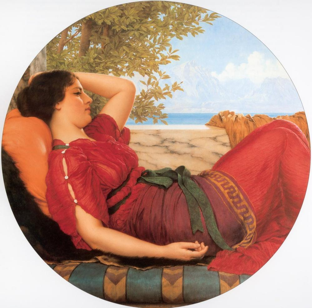 John William Godward Fantezi Alemlerinde, Kanvas Tablo, John William Godward, kanvas tablo, canvas print sales