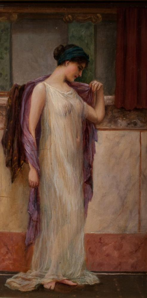 John William Godward In The Tepidarium, Canvas, John William Godward, kanvas tablo, canvas print sales