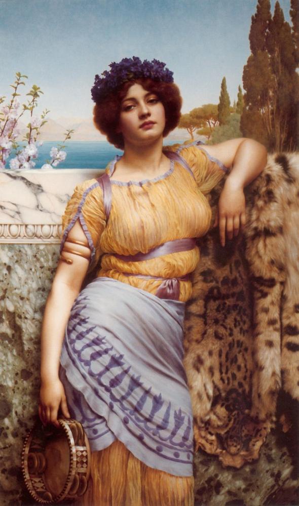 John William Godward Ionian Dancing Girl, Canvas, John William Godward, kanvas tablo, canvas print sales