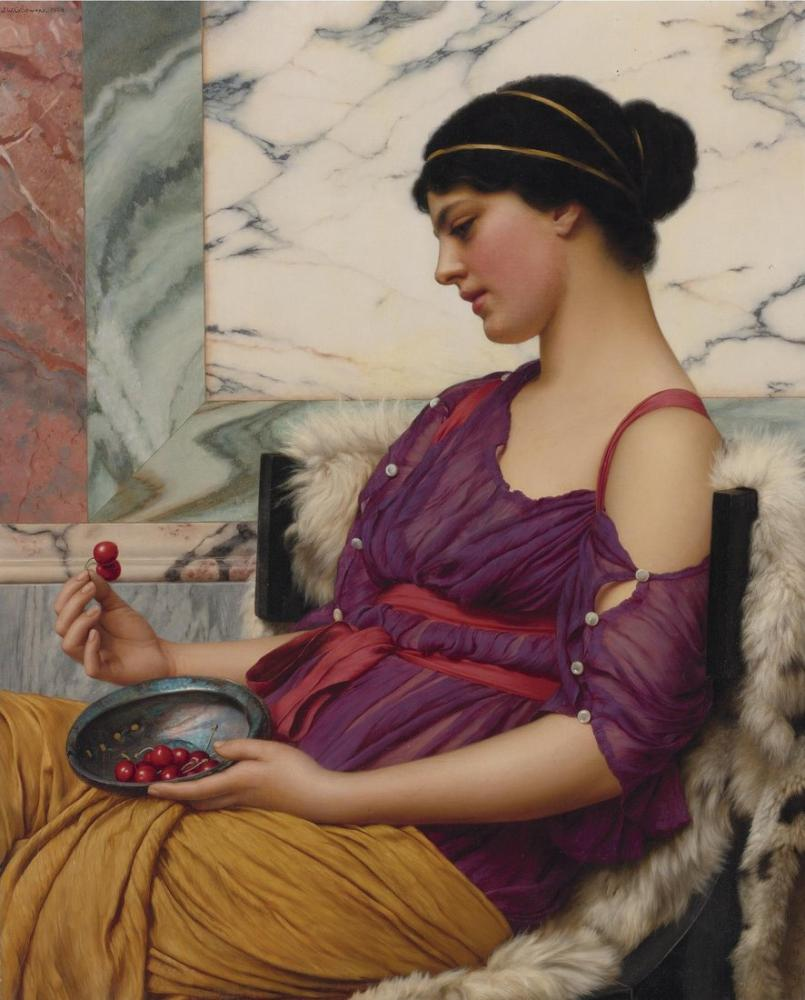 John William Godward Ismenia, Canvas, John William Godward, kanvas tablo, canvas print sales