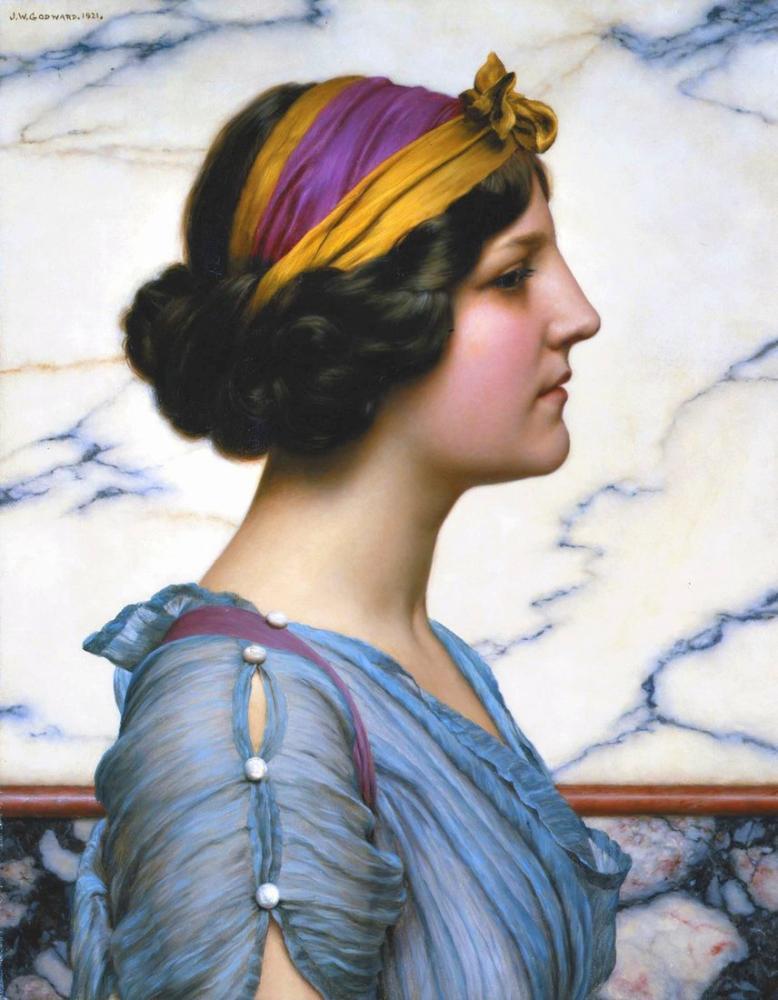 John William Godward Megilla, Kanvas Tablo, John William Godward, kanvas tablo, canvas print sales