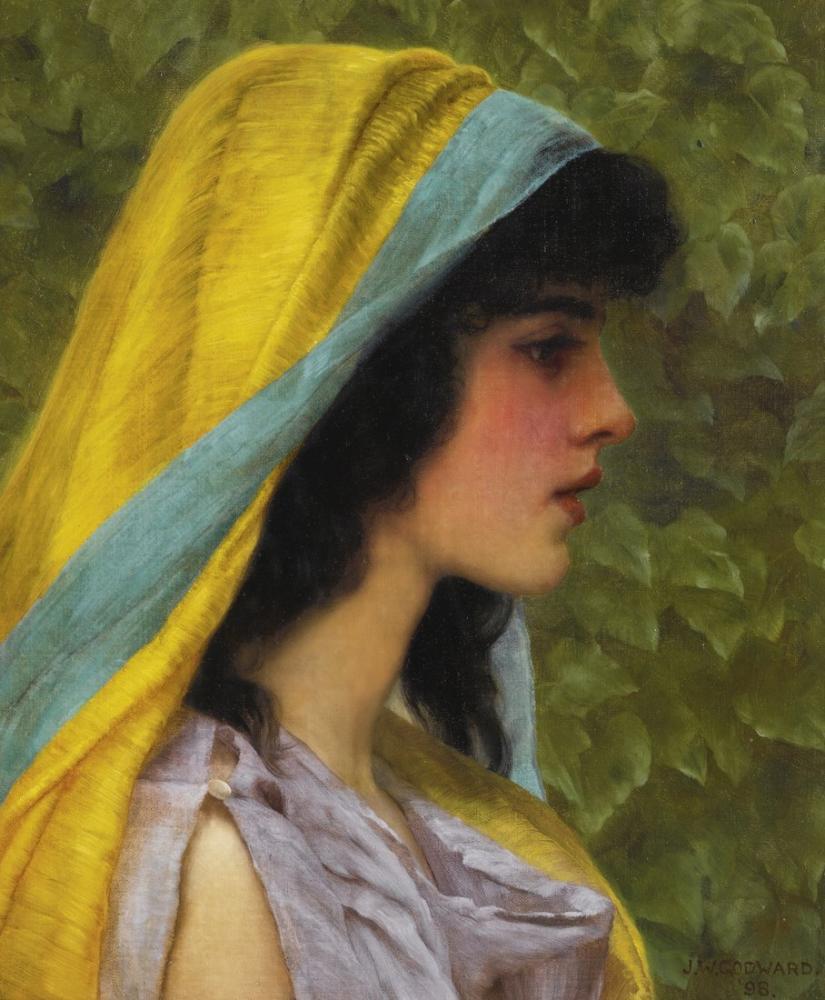 John William Godward Melissa 1898, Canvas, John William Godward, kanvas tablo, canvas print sales