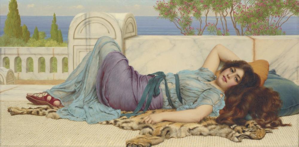 John William Godward Yaramazlık Ve Yeniden, Kanvas Tablo, John William Godward, kanvas tablo, canvas print sales