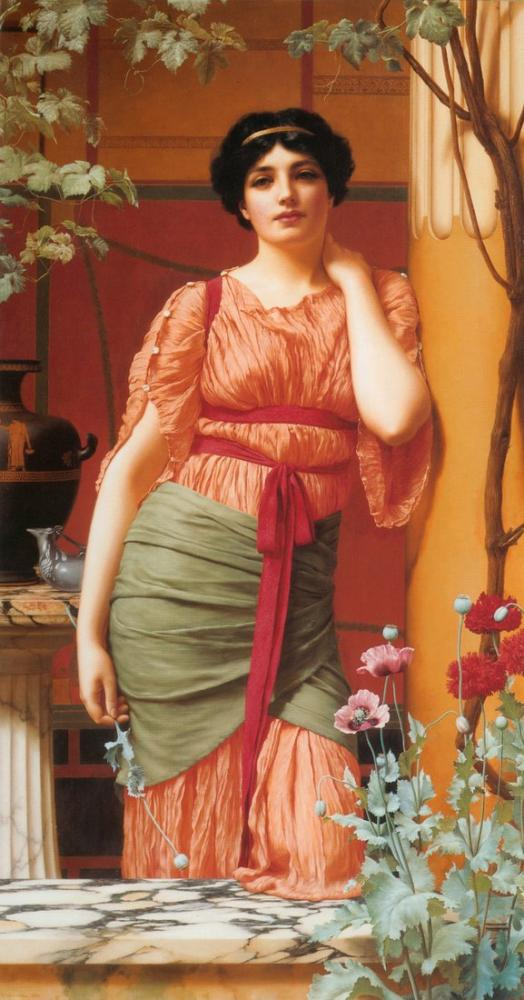 John William Godward Nerissa, Kanvas Tablo, John William Godward, kanvas tablo, canvas print sales