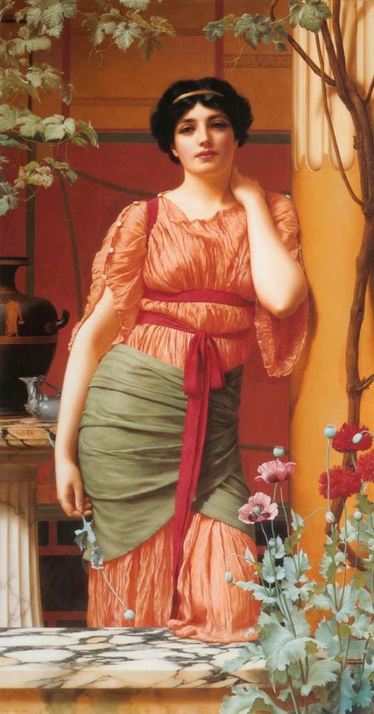 John William Godward Nerissa, Canvas, John William Godward, kanvas tablo, canvas print sales