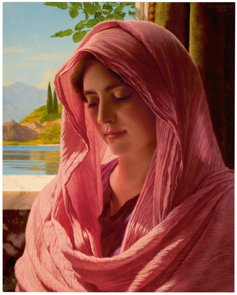 John William Godward Pyrallis, Canvas, John William Godward, kanvas tablo, canvas print sales