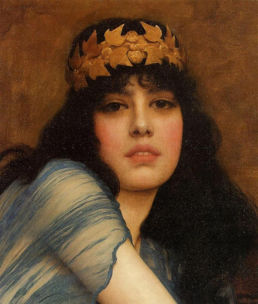 John William Godward Queen Hecuba Of Troy, Canvas, John William Godward, kanvas tablo, canvas print sales