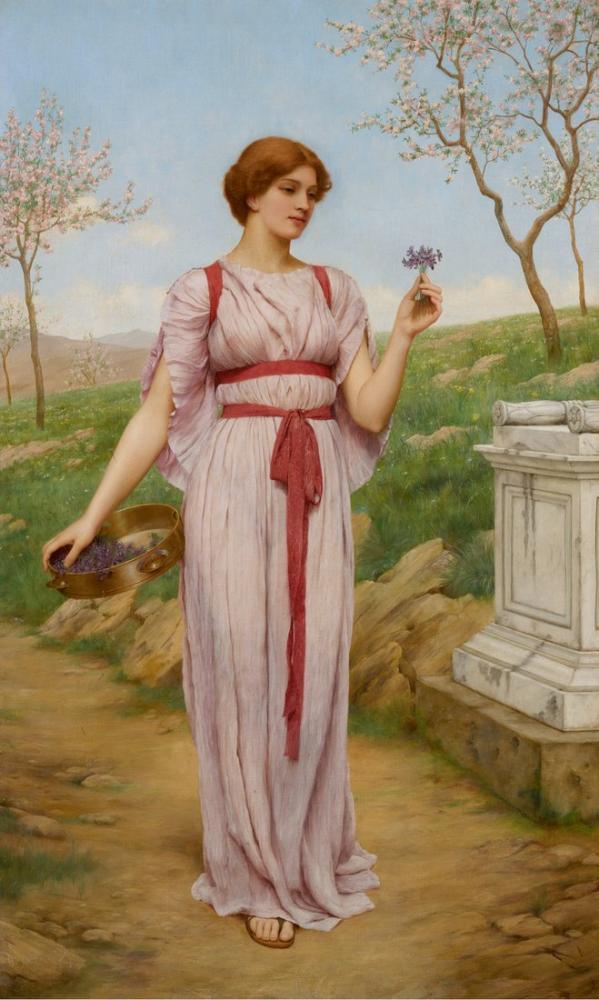 John William Godward Roma Baş Hemşire, Kanvas Tablo, John William Godward, kanvas tablo, canvas print sales