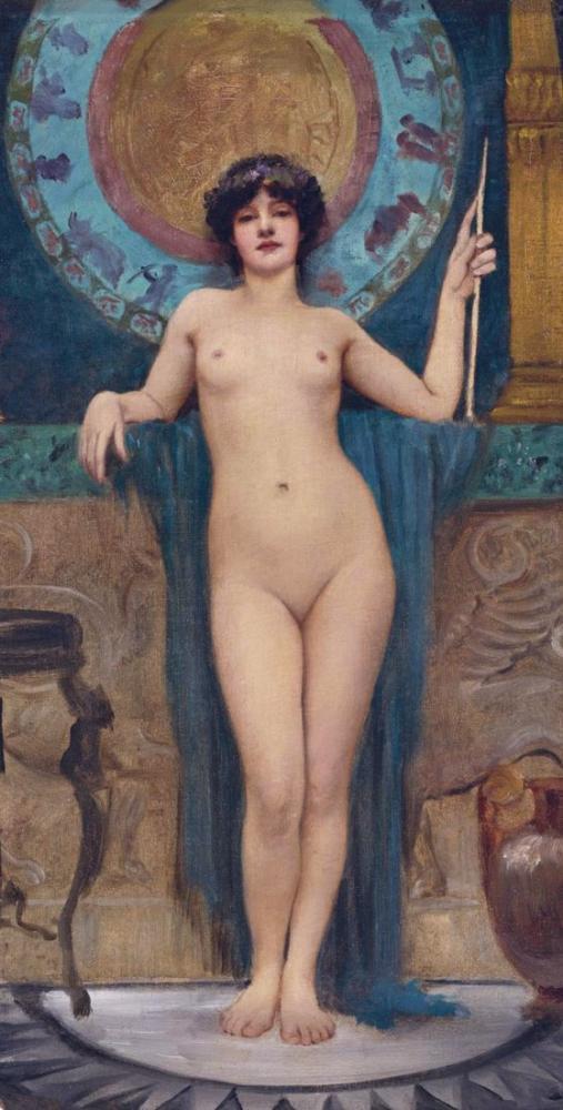 John William Godward Study Of Campaspe, Canvas, John William Godward, kanvas tablo, canvas print sales