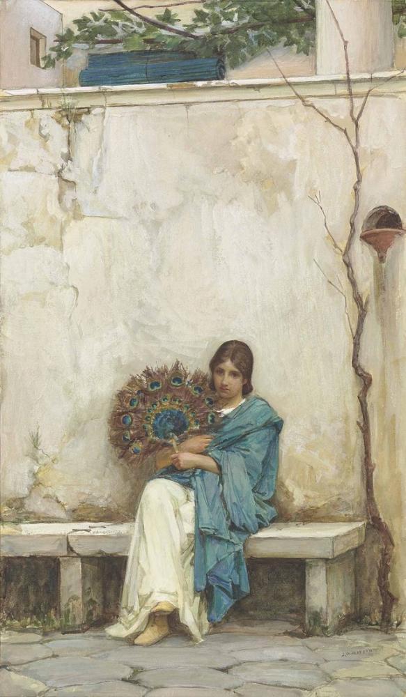 John William Waterhouse Gündüz Rüyalar, Kanvas Tablo, John William Waterhouse, kanvas tablo, canvas print sales