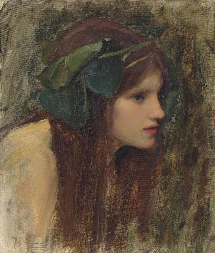 John William Waterhouse Naiad İçin Kadın Kafa Çalışması, Kanvas Tablo, John William Waterhouse, kanvas tablo, canvas print sales