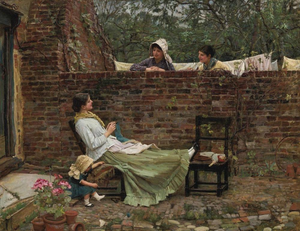 John William Waterhouse Dedikodu, Kanvas Tablo, John William Waterhouse, kanvas tablo, canvas print sales